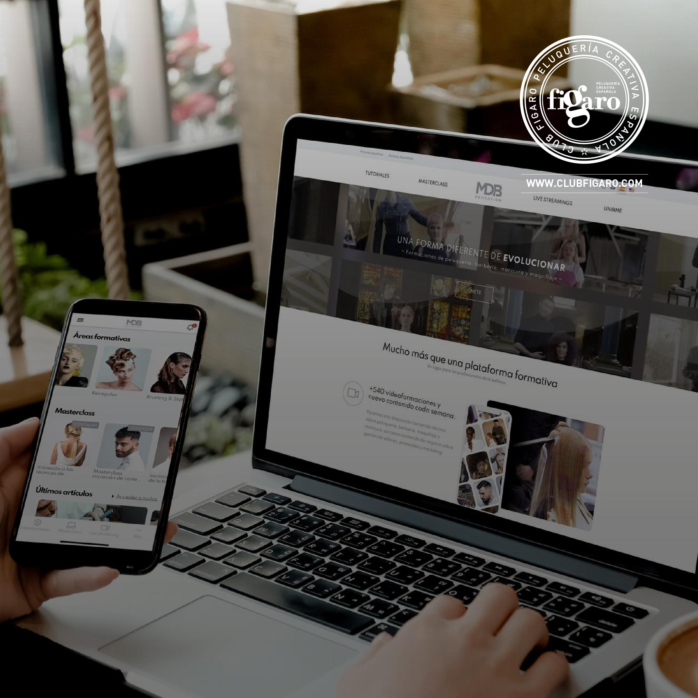 MDB Education, la prestigiosa firma de formación online, renueva su compromiso con Club Fígaro – Peluquería Creativa Española